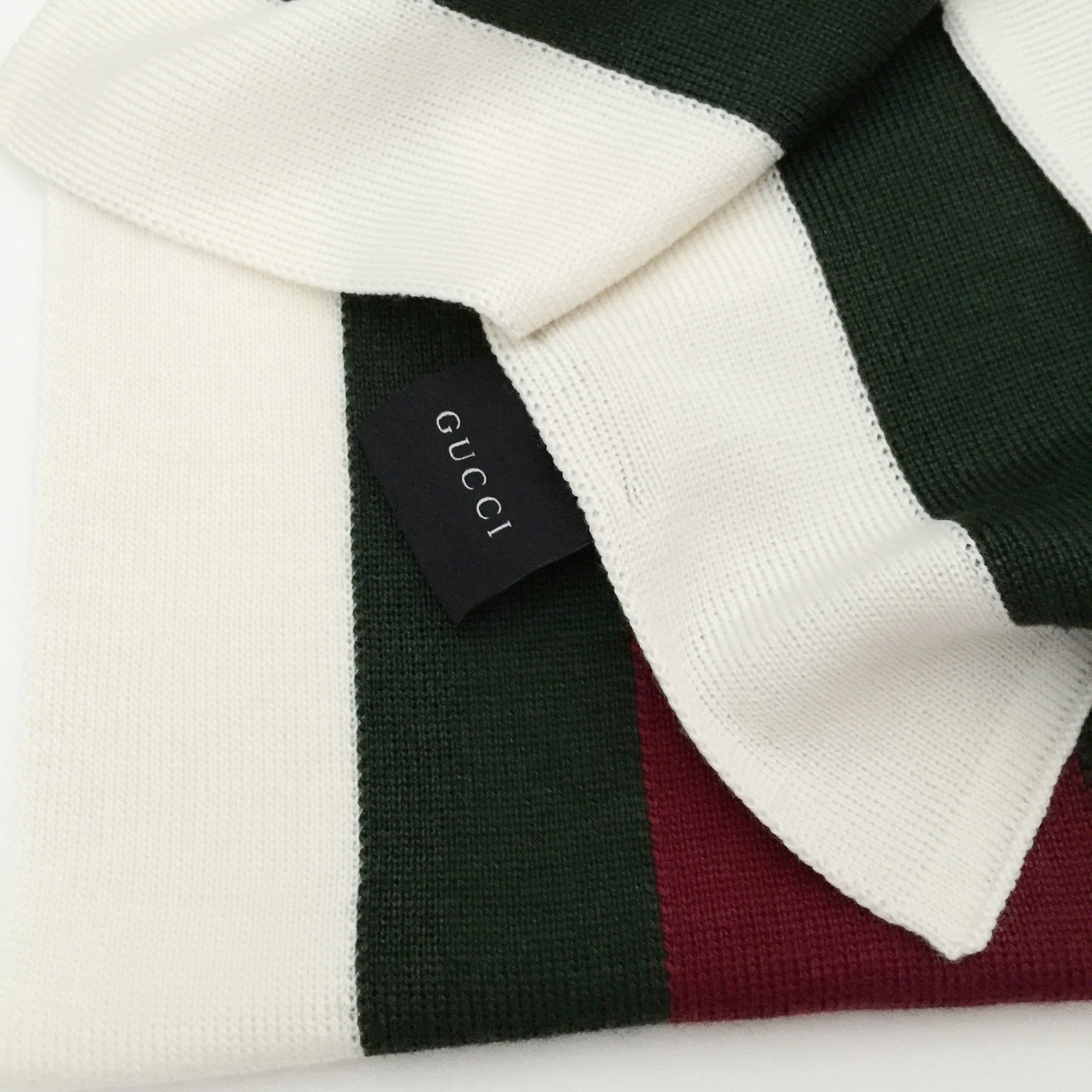 Authentic GUCCI Silk Wool Knit Hat & Scarf Set