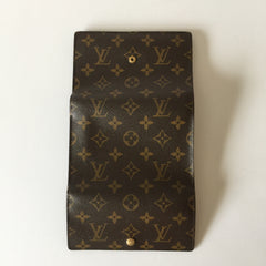 Authentic LOUIS VUITTON Tresor Etui Papiers Monogram Wallet