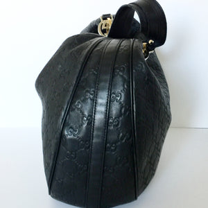 Authentic GUCCI Guccissima Twins Leather Hobo