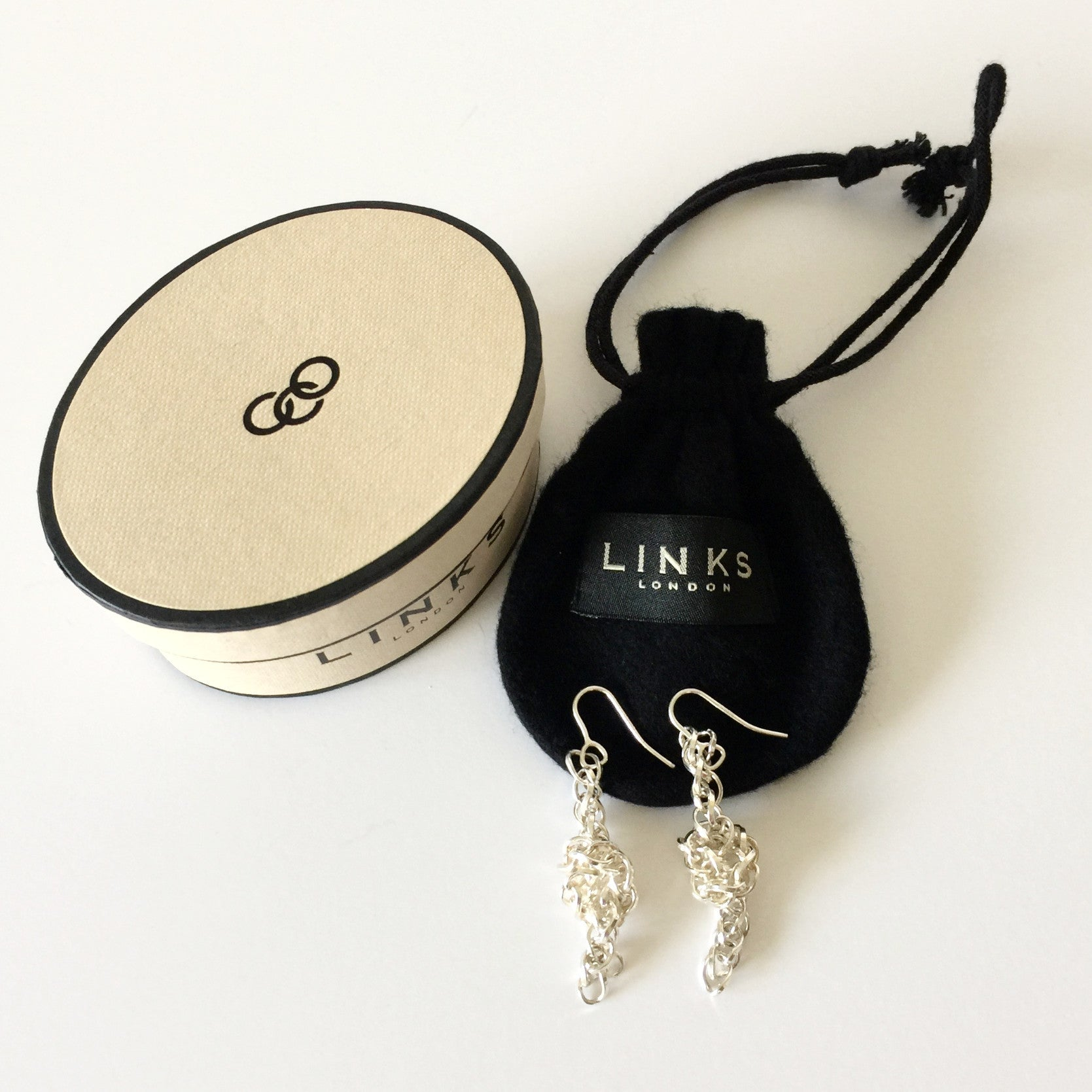Authentic LINKS OF LONDON Chain Drop Earrings