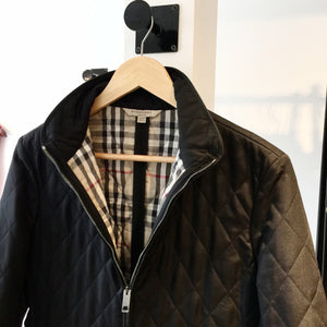 Authentic BURBERRY Black Quilted Jacket