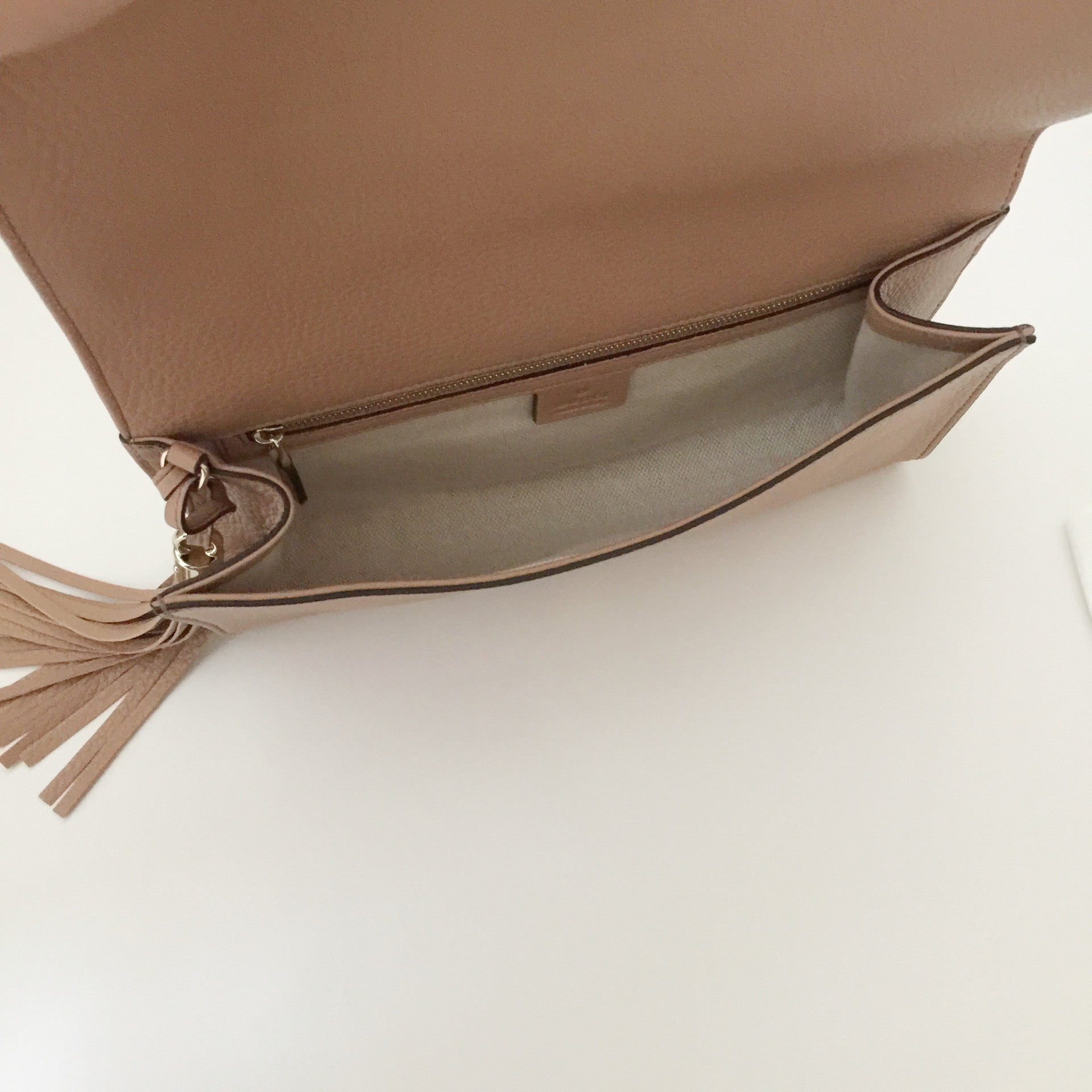 Authentic GUCCI Soho Tan Clutch