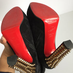 Authentic CHRISTIAN LOUBOUTIN Taclo Botta High Boots Size 6.5
