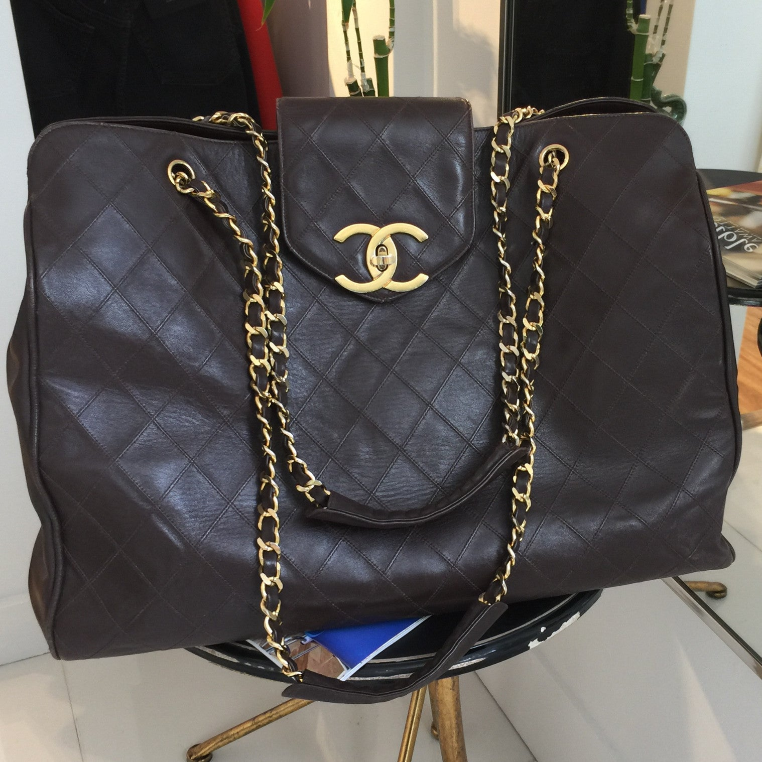 Authentic CHANEL XL Supermodel Tote