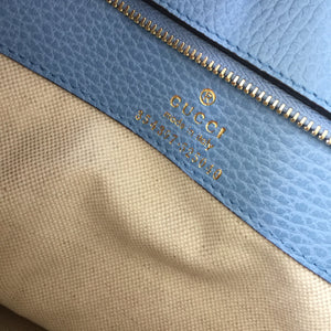 Authentic GUCCI Large Beige Swing Tote