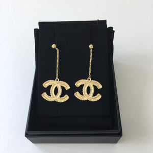 Authentic CHANEL CC Drop Earrings