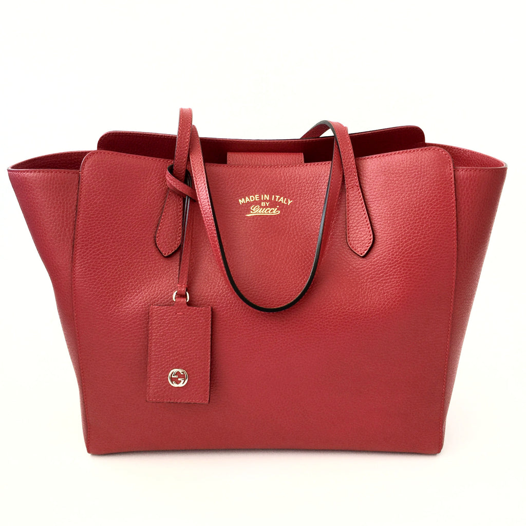 c534ed0be0a0 Authentic GUCCI Red Swing Tote