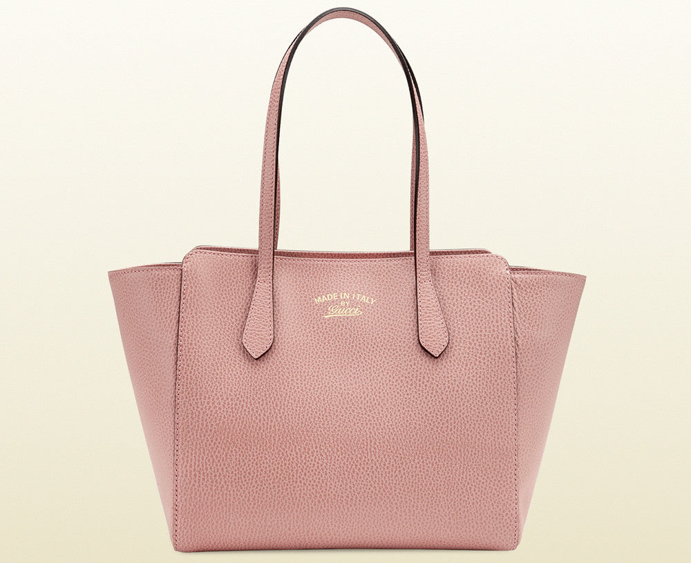 a1a452c3b476 Authentic GUCCI Small Pink Swing Tote