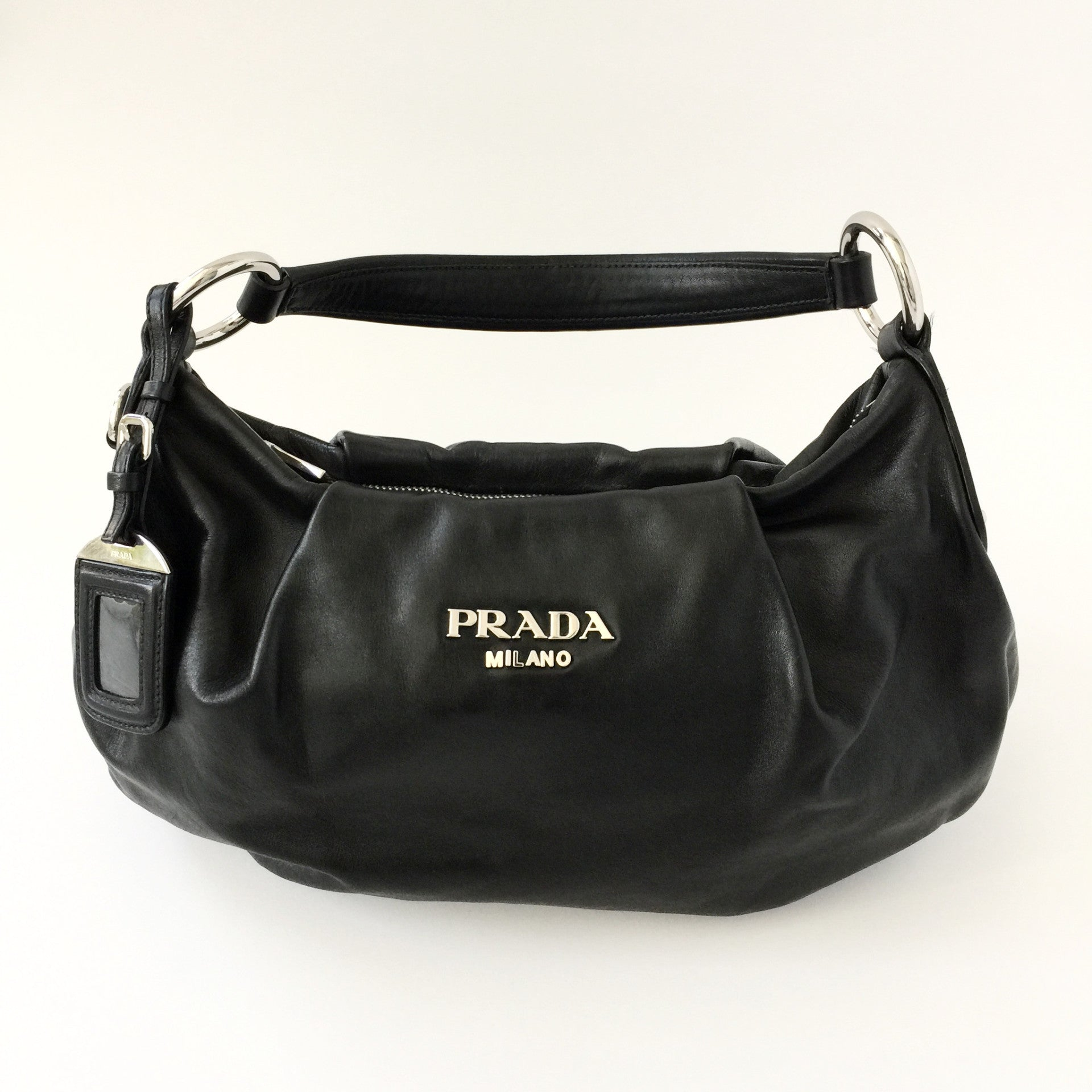 Authentic PRADA Black Leather Hobo