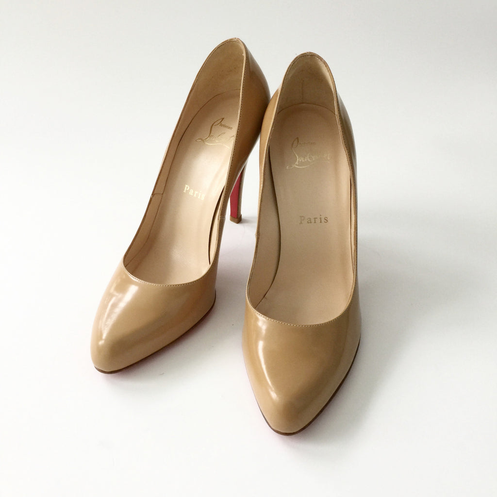 Authentic CHRISTIAN LOUBOUTIN Camel Size 38.5