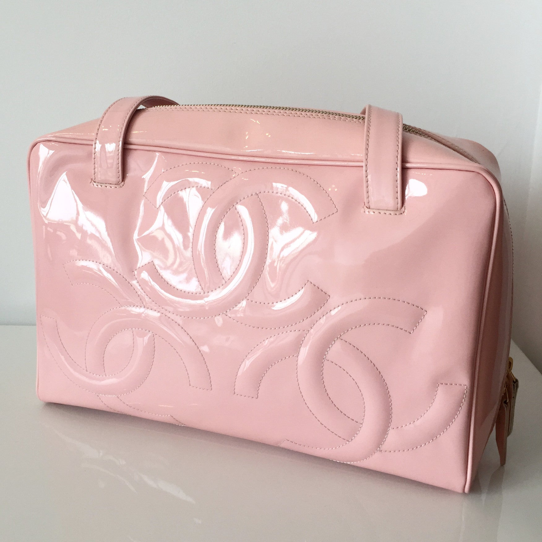 Authentic CHANEL Patent Pink Tote