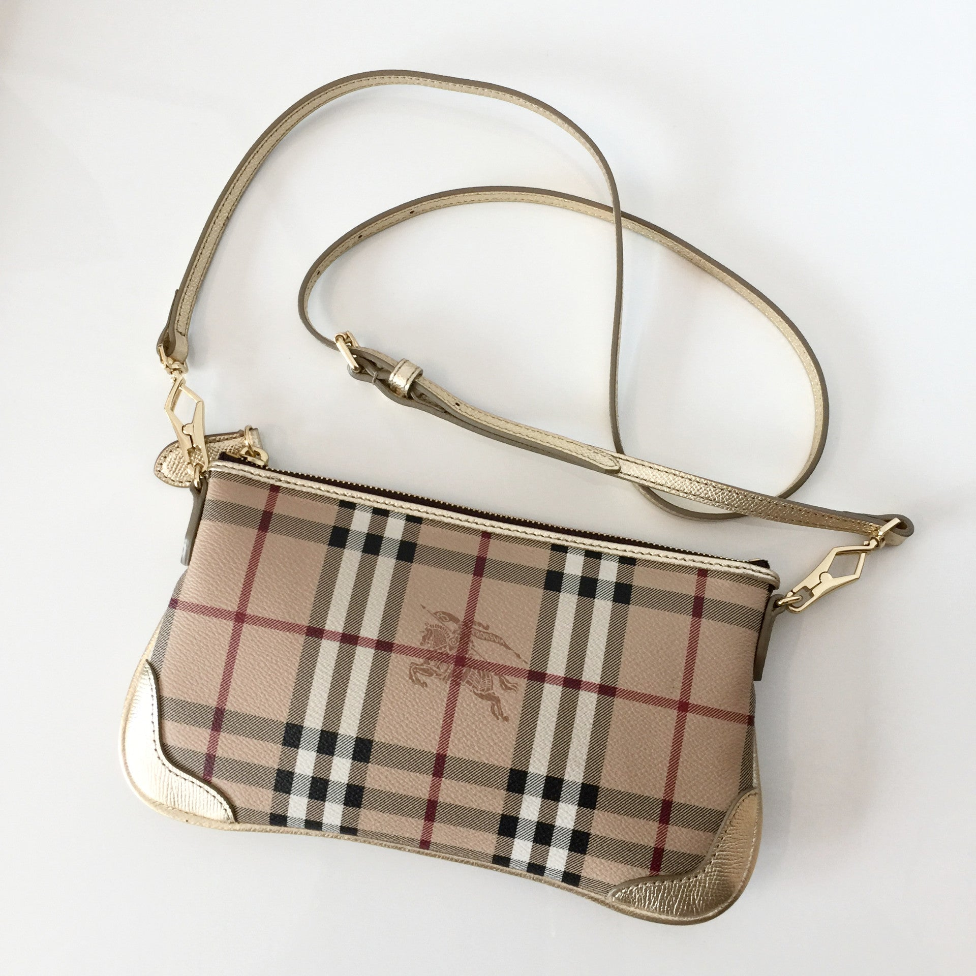 Authentic BURBERRY Haymarket Small Crossbody