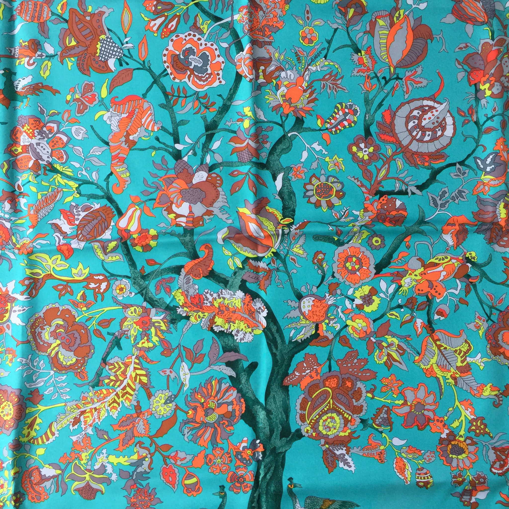 Authentic HERMES Fantaisies Indiennes Silk Scarf