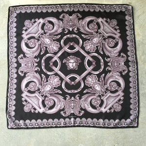 Authentic Versace Medusa Mauve Silk Scarf