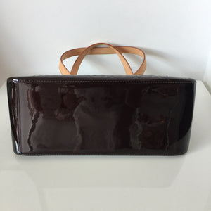 Authentic LOUIS VUITTON Vernis Rosewood Ave. Amarante Handbag