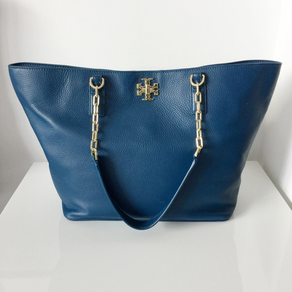 31477c9717cc Authentic TORY BURCH Mercer Tote Navy
