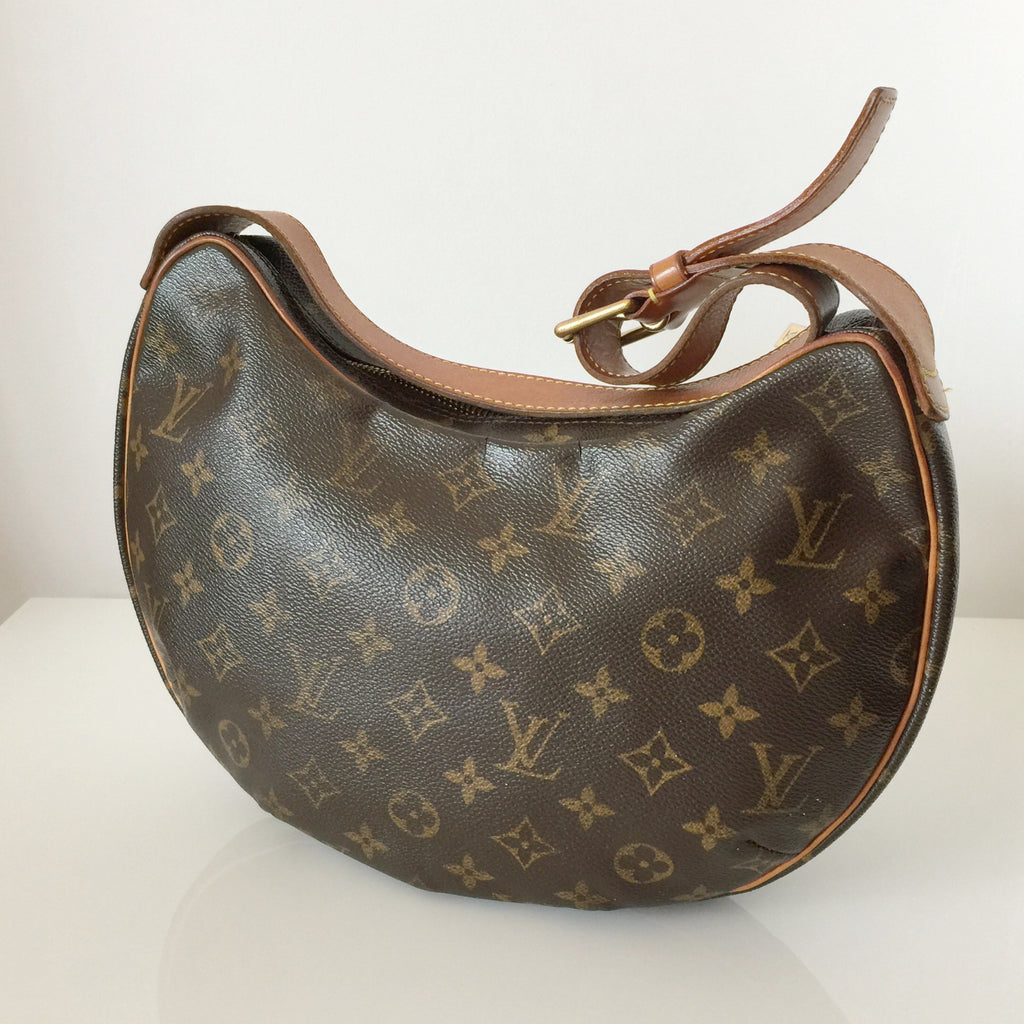ef2ee55d27db Authentic LOUIS VUITTON Monogram Croissant PM Pochette Bag