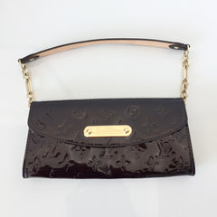 Authentic LOUIS VUITTON Vernis Amarante Sunset Blvd. Handbag