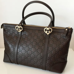 Authentic GUCCI Lovely Heart Guccissima Tote