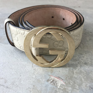 Authentic GUCCI Interlocking GG Belt Size 90