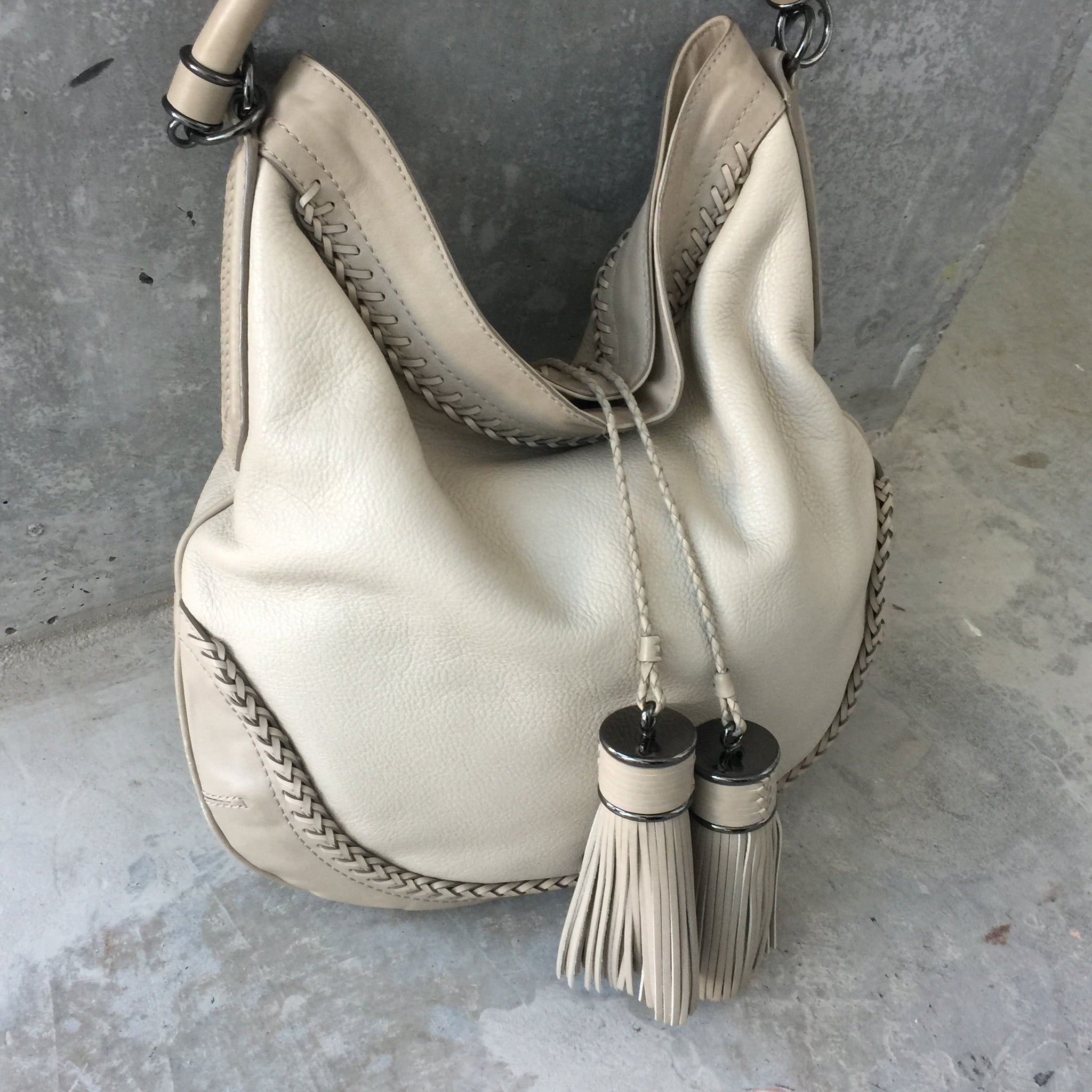 Authentic BURBERRY Leather Tassle Bag