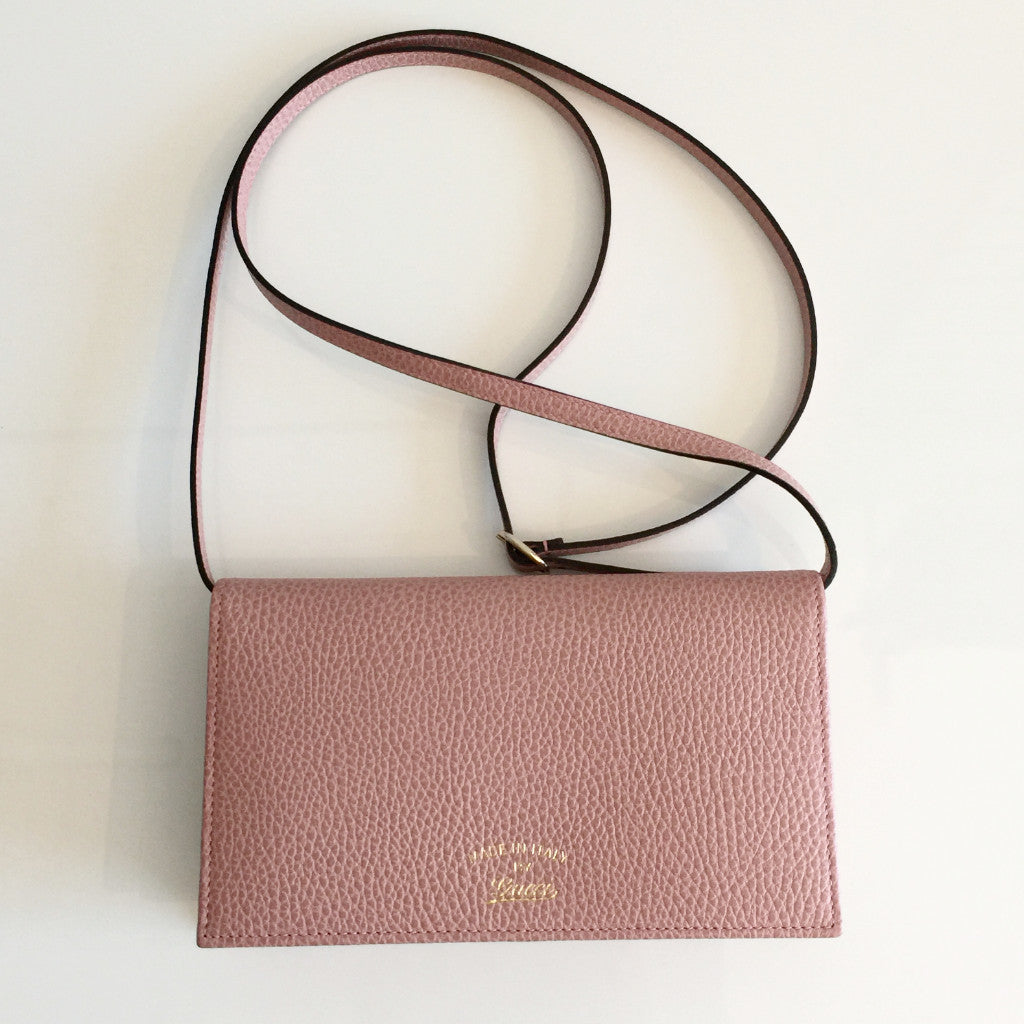 7601a88d66f7 Authentic GUCCI Rose Swing Wallet on Strap