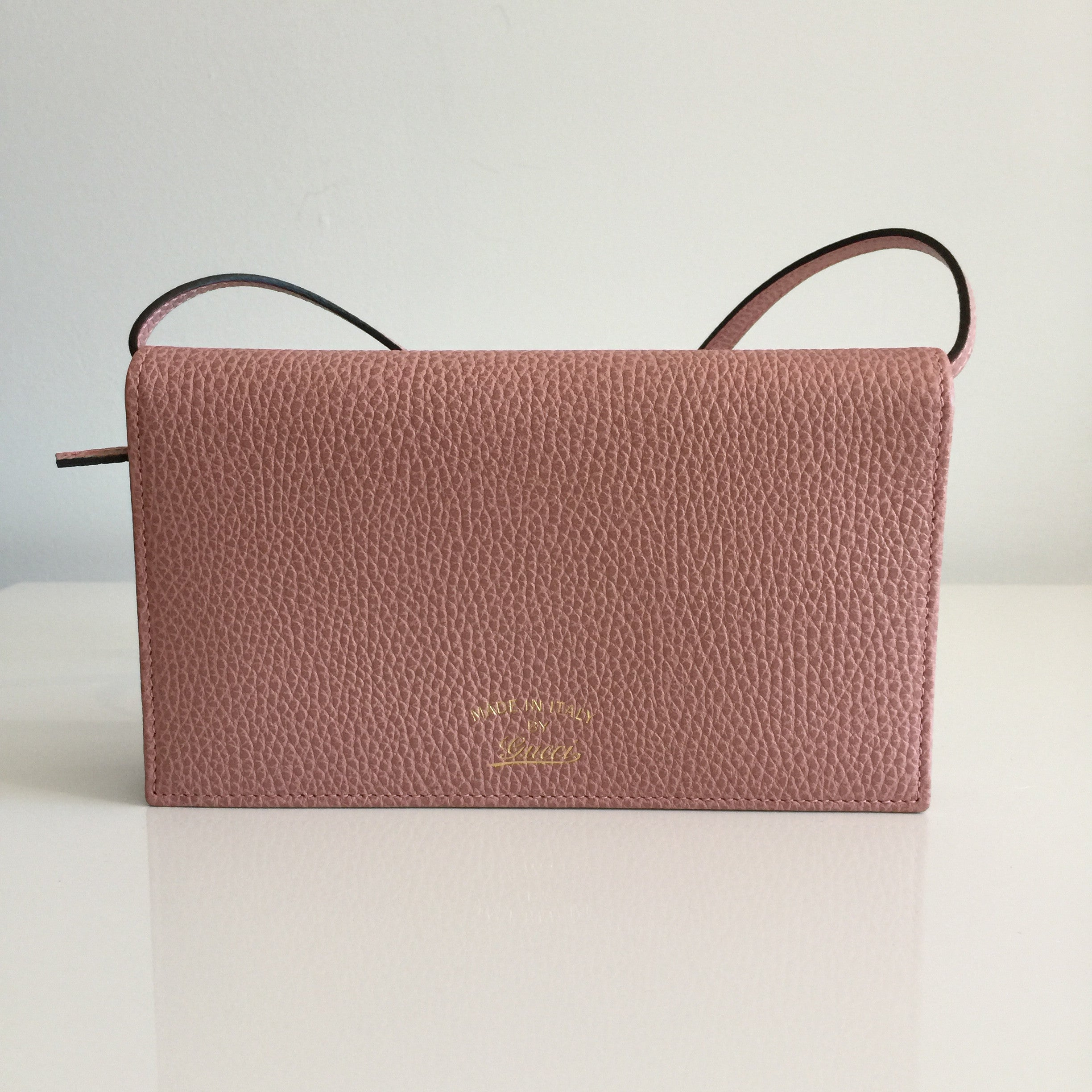 Authentic GUCCI Rose Swing Wallet on Strap