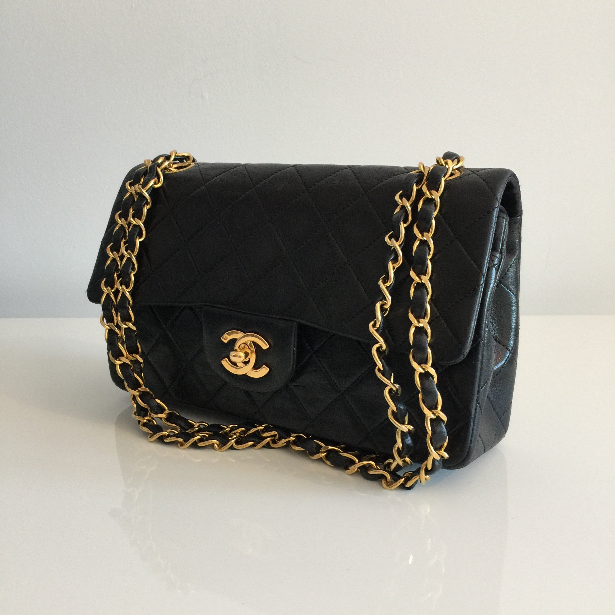 "Authentic CHANEL Vintage 9"" Double Flap"