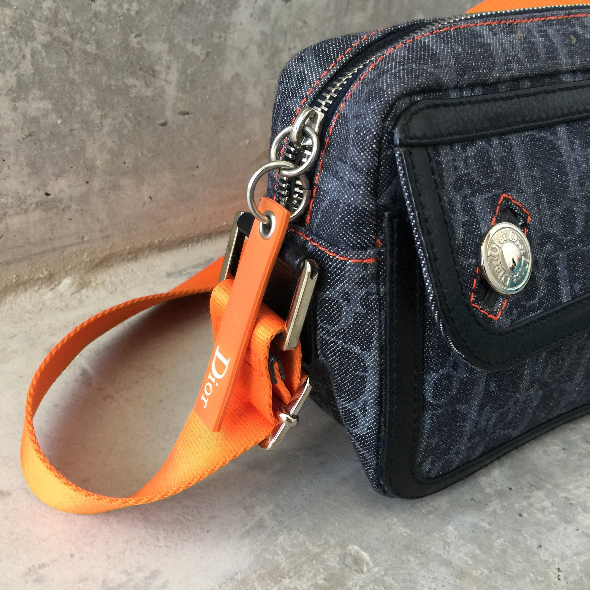 Authentic CHRISTIAN DIOR Small Denim Bag