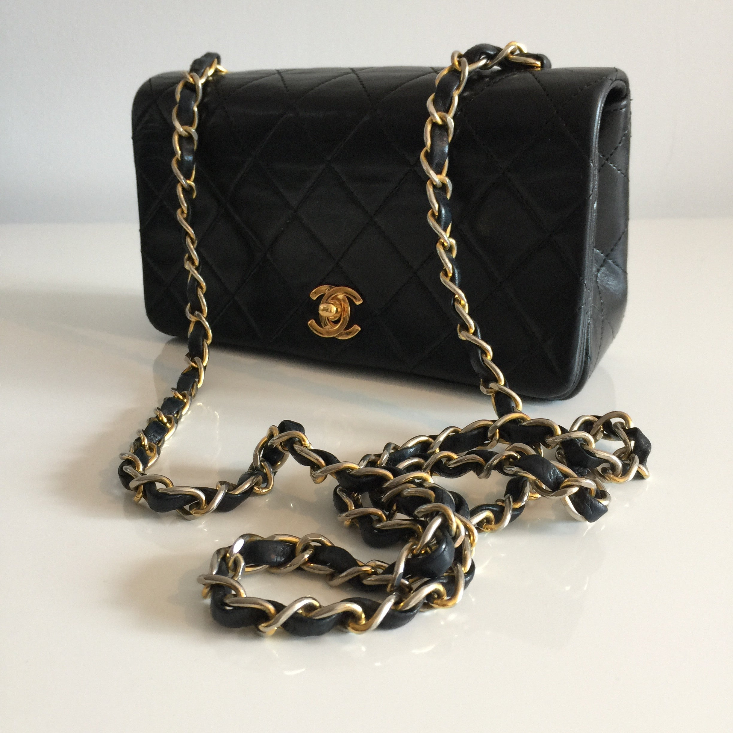 "Authentic CHANEL Vintage Full Flap 7"" Mini"