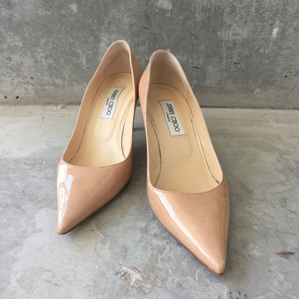 Authentic JIMMY CHOO Patent Kitten Heels Size 39