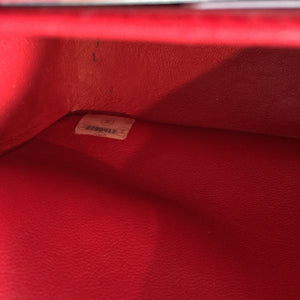 "Authentic CHANEL Red Vintage 10"" Double Flap"