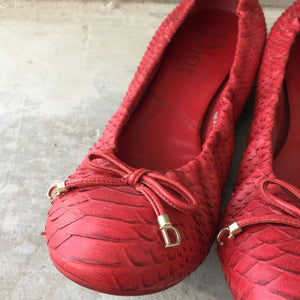 Authentic CHRISTIAN DIOR Python Ballet Size 10