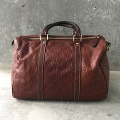 Authentic GUCCI Leather Boston Bag