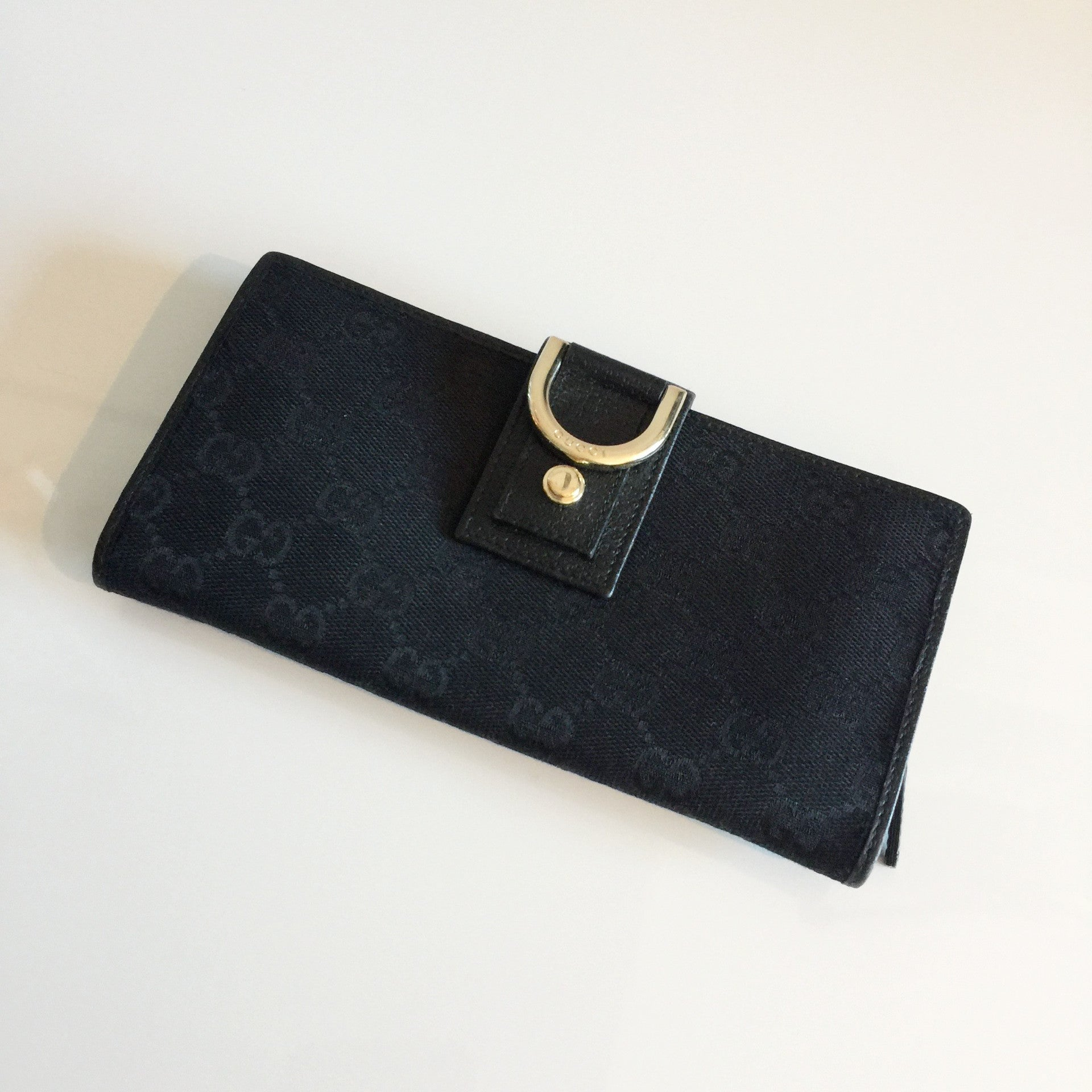 Authentic GUCCI Black Abbey Wallet