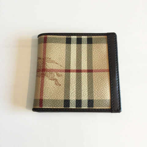 Authentic BURBERRY Haymarket Men's Wallet