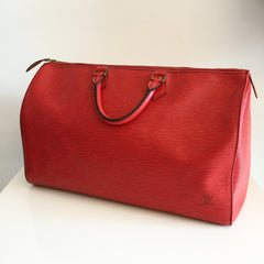 Authentic LOUIS Vuitton Red Epi Speedy 40