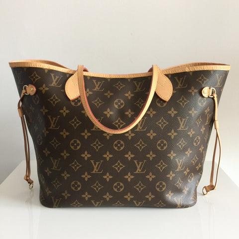 Authentic LOUIS VUITTON Neverfull MM Pink Ballerina
