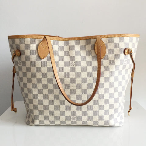 Authentic LOUIS VUITTON Neverfull MM Damier Azur