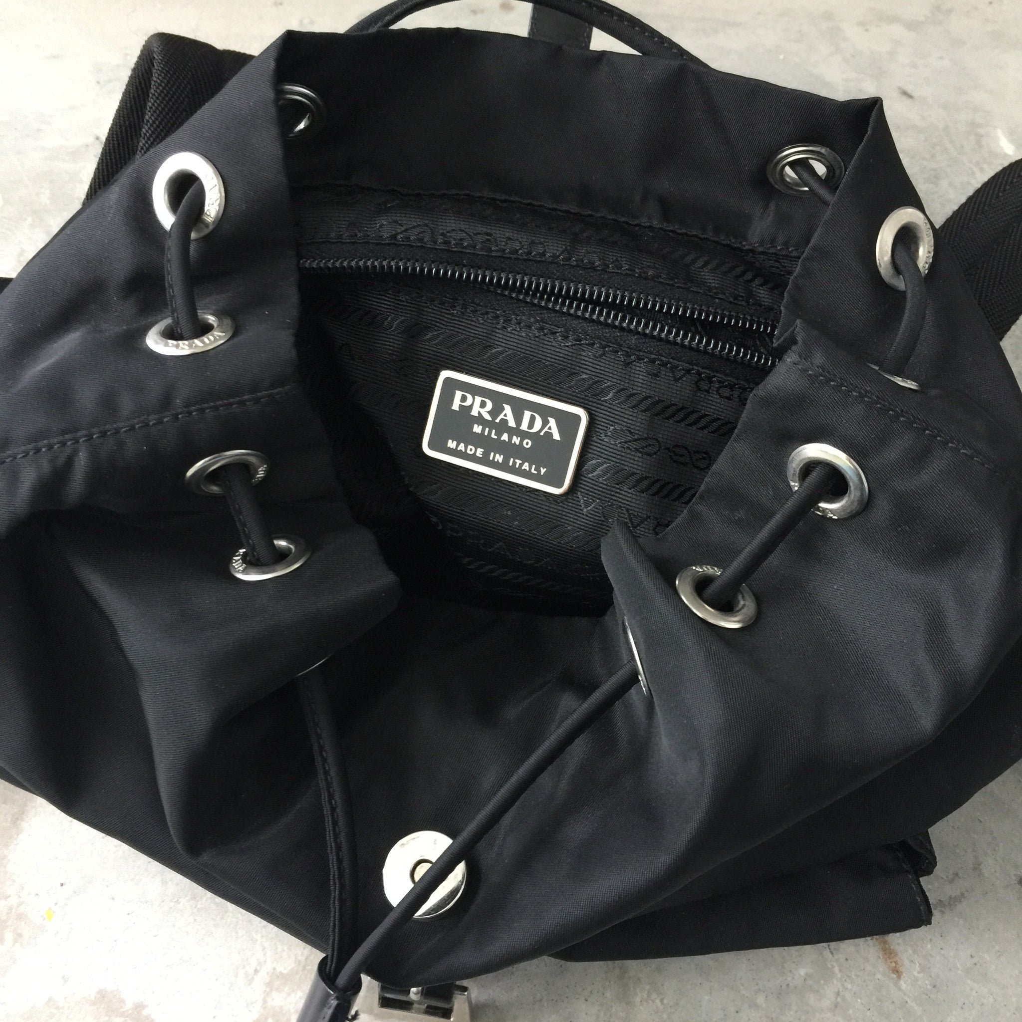 ad2d42d868d183 Authentic PRADA Small backpack – Valamode