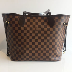 Authentic LOUIS VUTTON Neverfull MM Damier Ebene