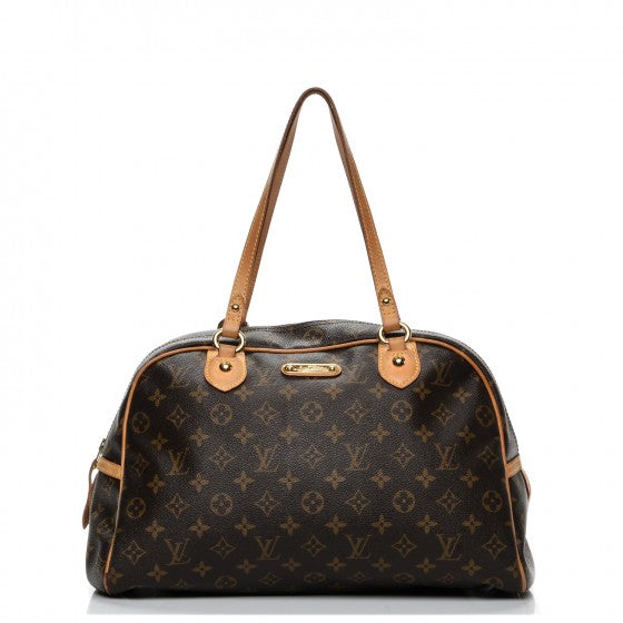 Authentic LOUIS VUITTON Montorgueil Monogram Bowler Bag