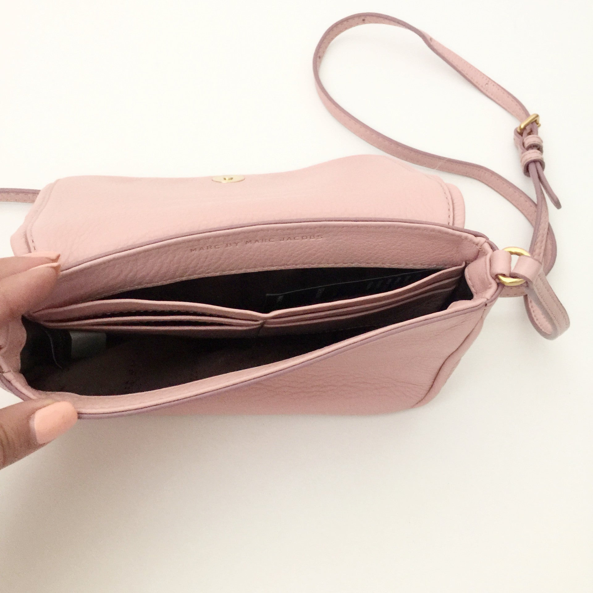 Authentic Marc by Marc Jacobs Small Baby Pink Crossbody