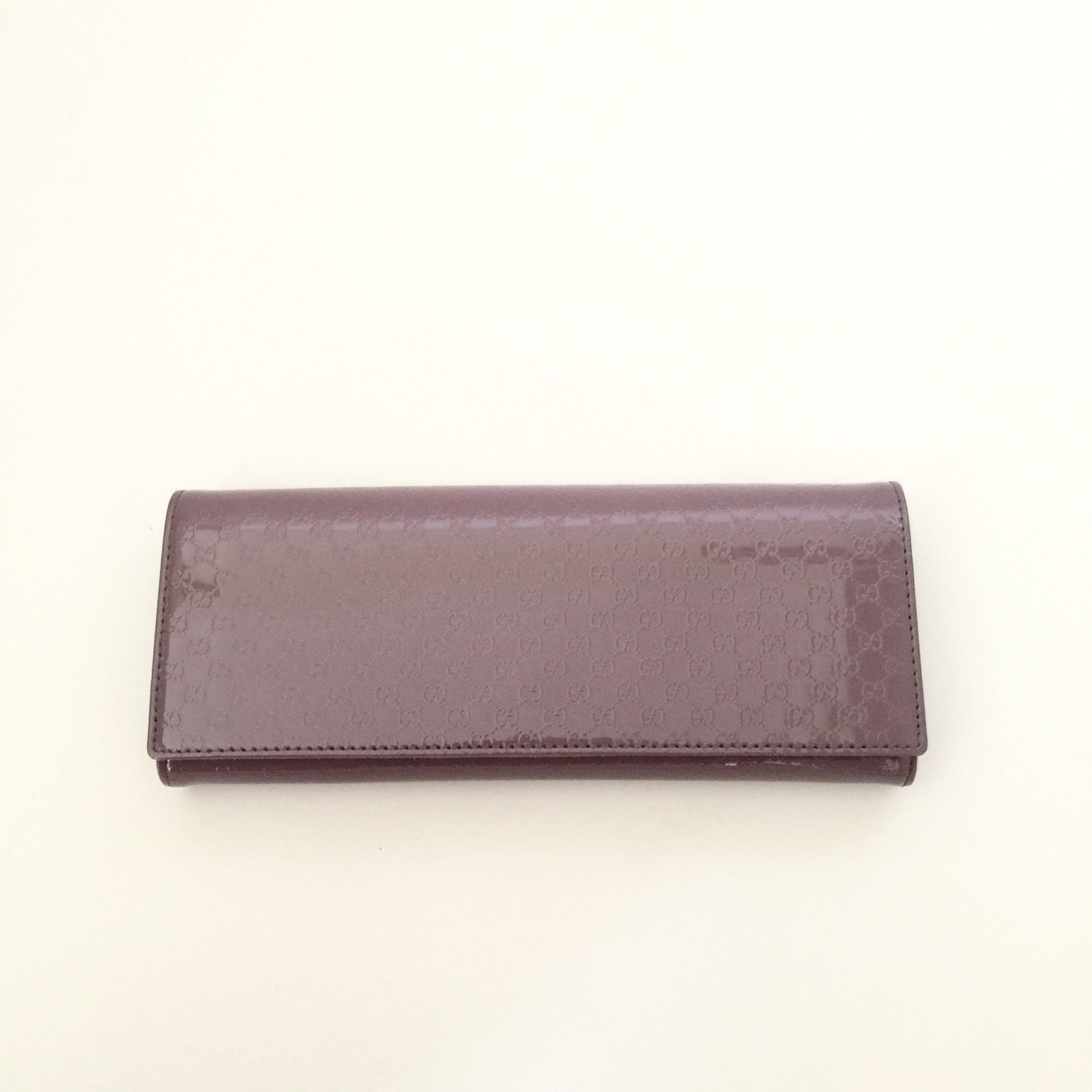 Authentic GUCCI Broadway Micro Guccisimma Mauve Clutch