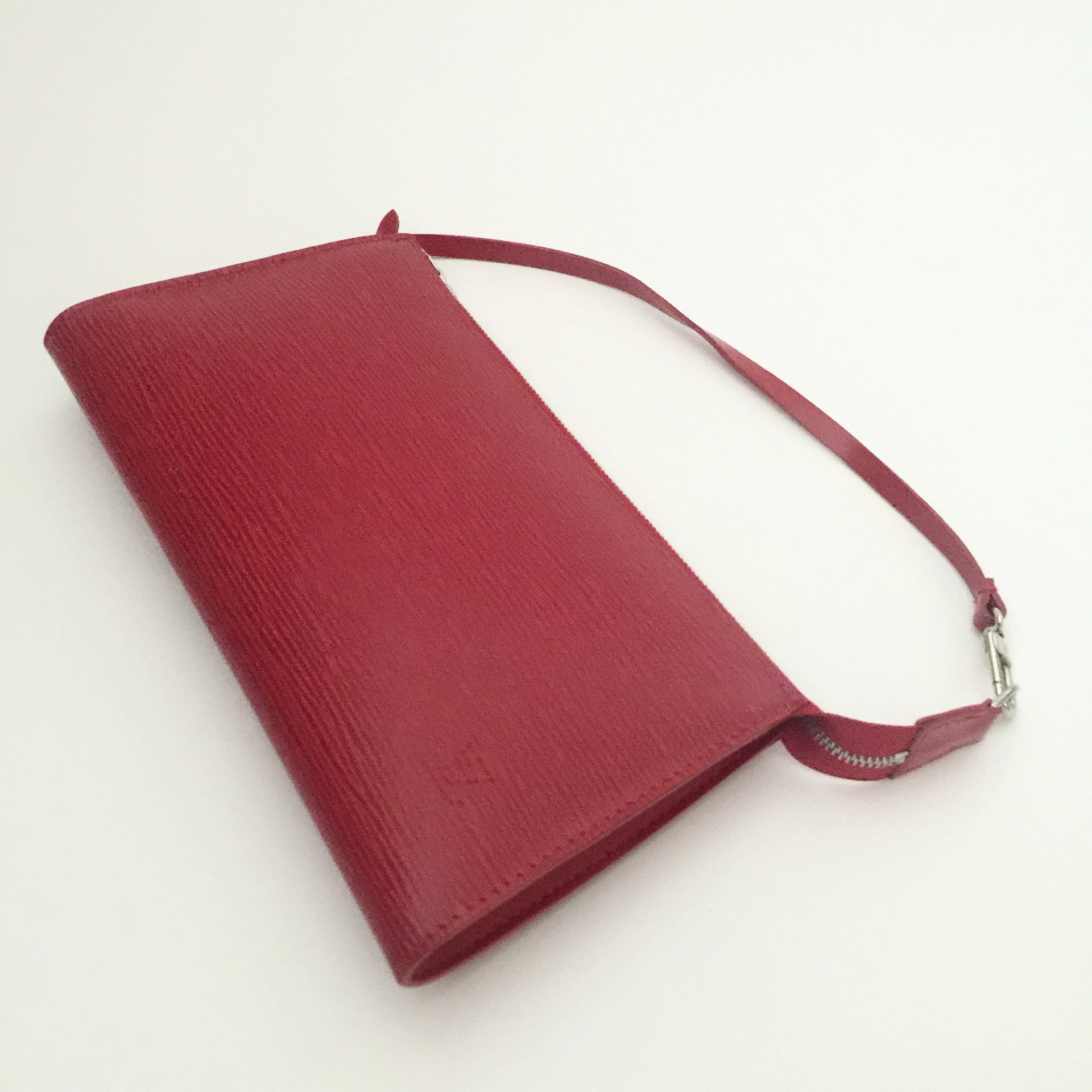 Authentic LOUIS VUITTON Red Epi Small Pochette