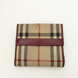 Authentic BURBERRY Compact Haymarket Wallet