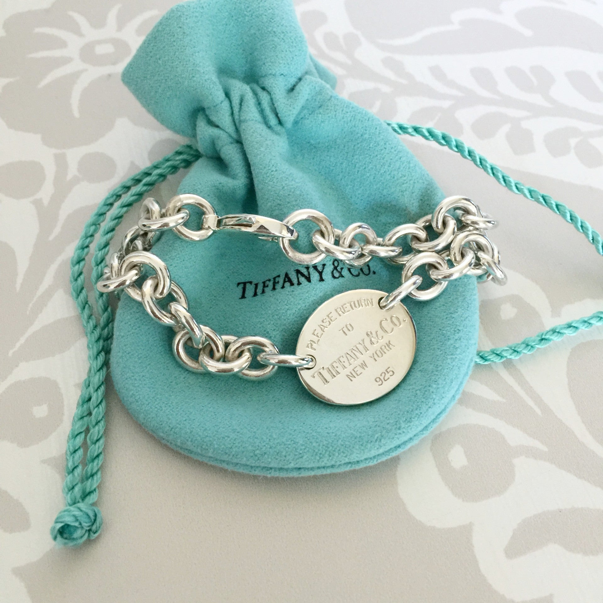 Authentic TIFFANY & CO 1837 Oval Tag Bracelelt