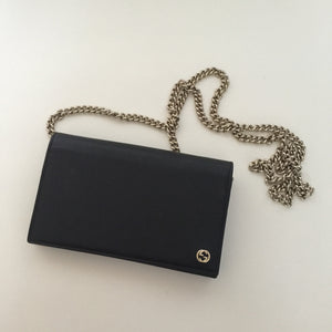 Authentic GUCCI Black Wallet On Chain