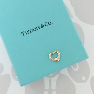 Authentic TIFFANY & CO Elsa Peretti 18K Gold Heart Charm