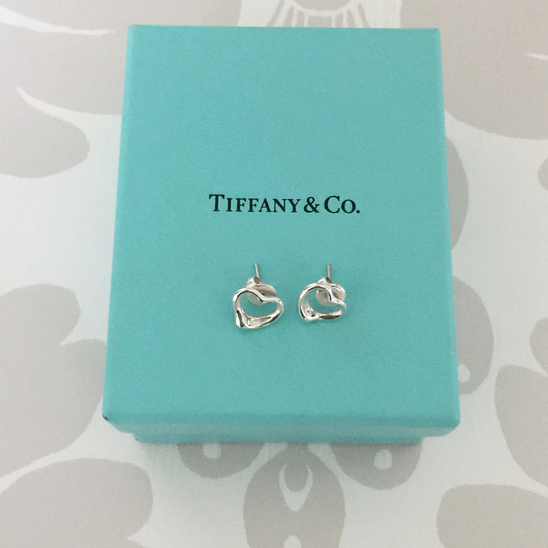 Authentic TIFFANY & CO Open Heart Earrings